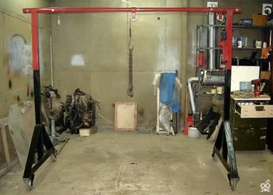 Как сделать кран-балку своими руками в гараже?