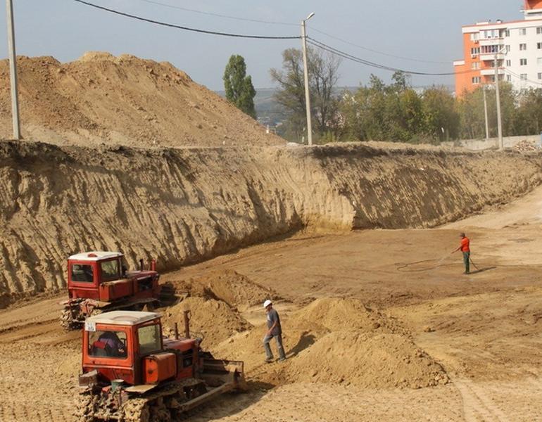 Разработка грунта бульдозером