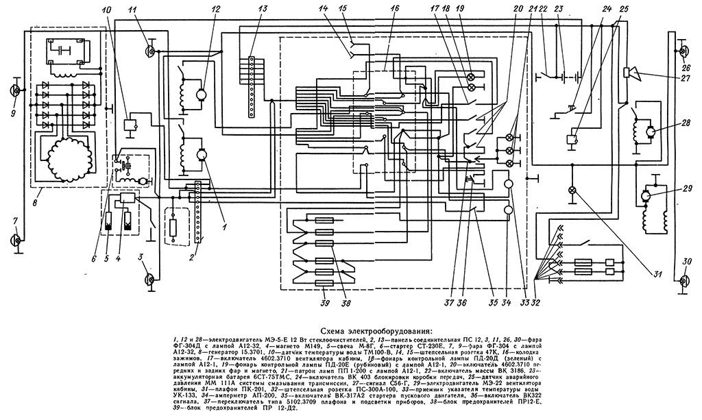Электрооборудование Т-130