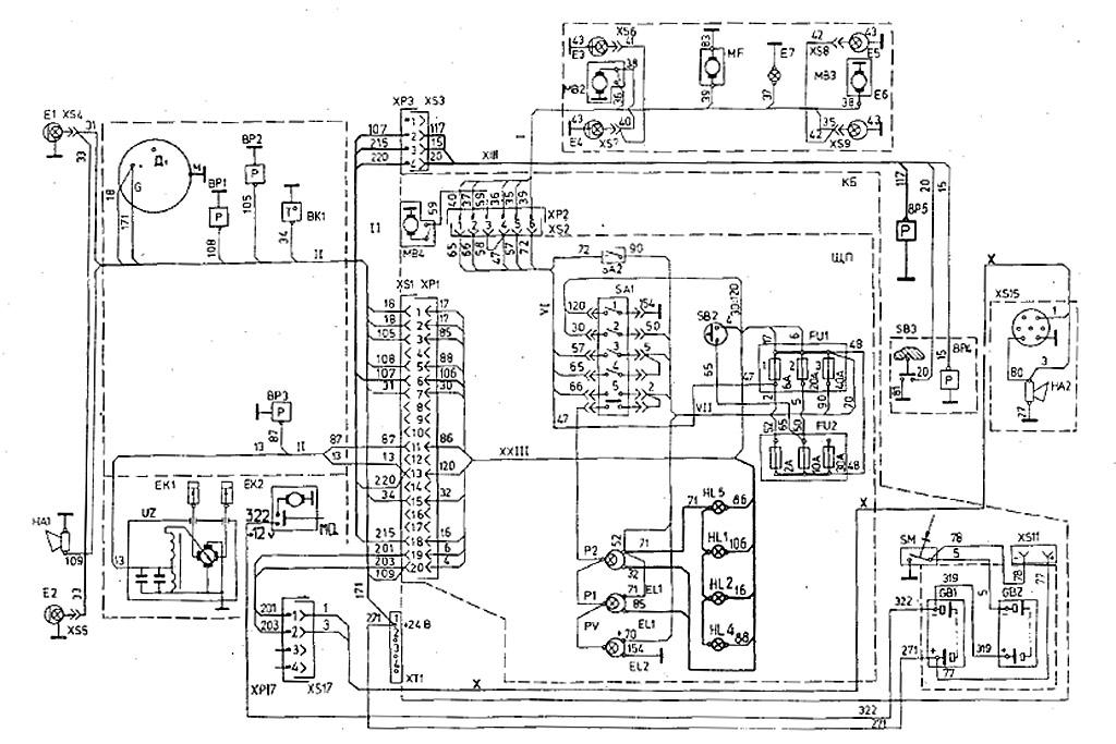 Электрооборудование Т-170
