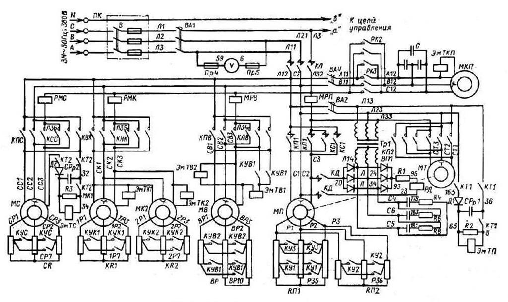 Электросхема крана КБ-405