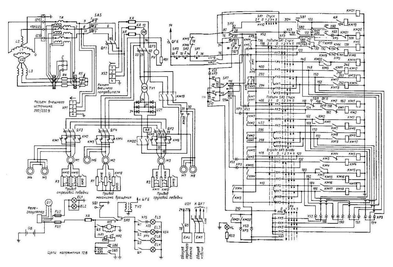 Электросхема ДЭК-251