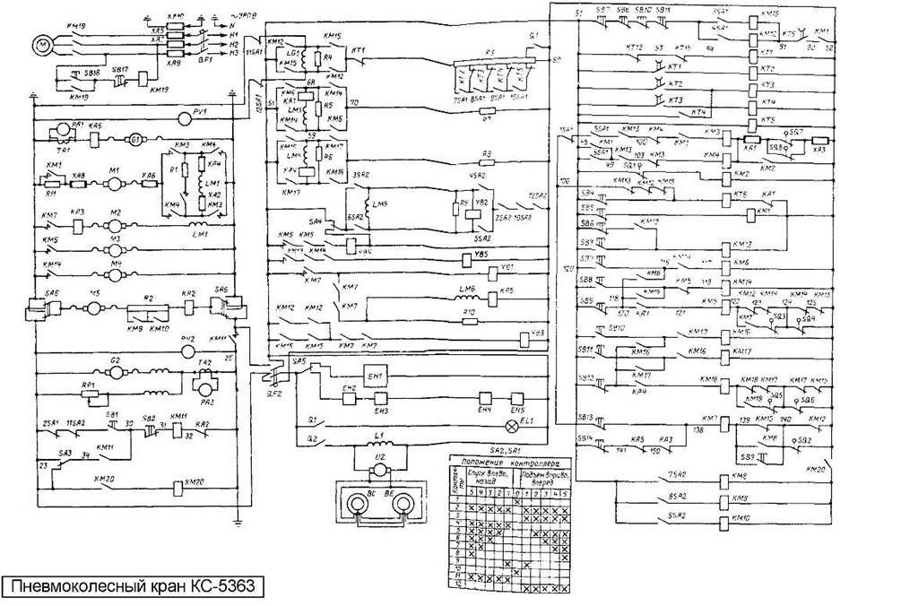 Электросхема крана КС-5363