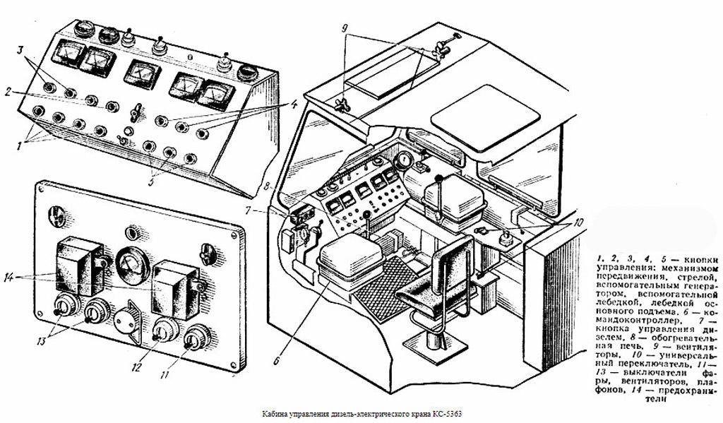 Кабина машиниста крана КС-5363