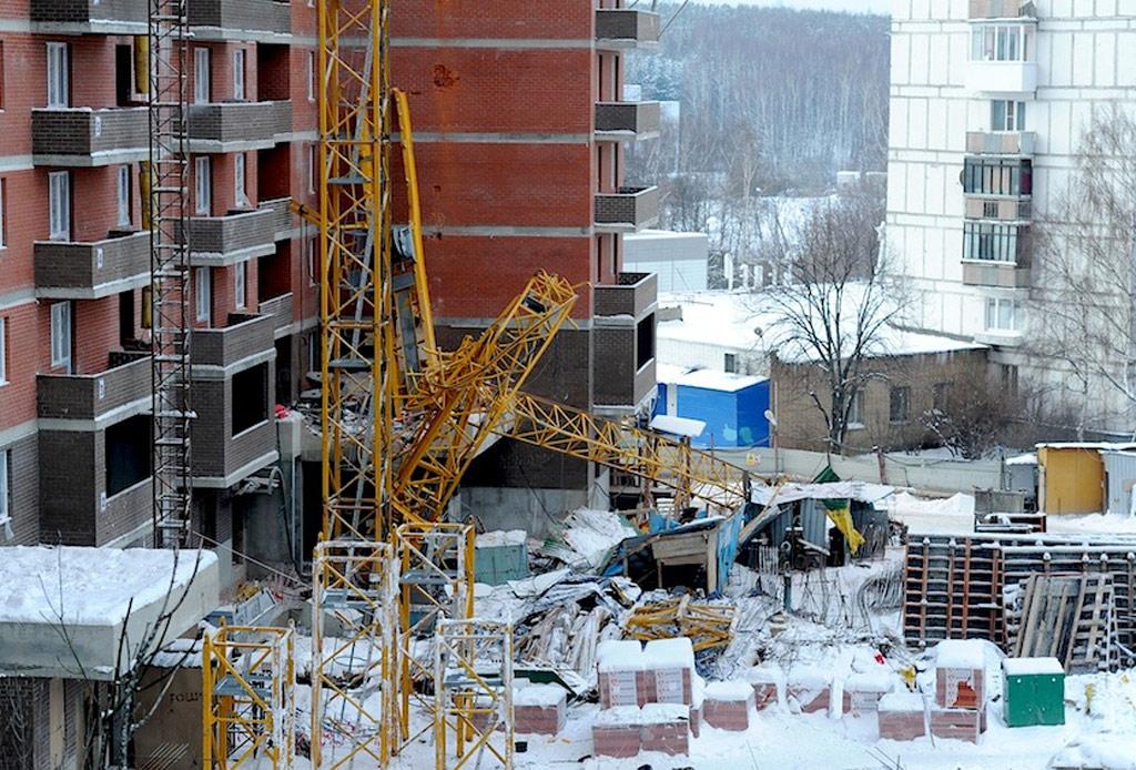 Падение крана в Одинцово