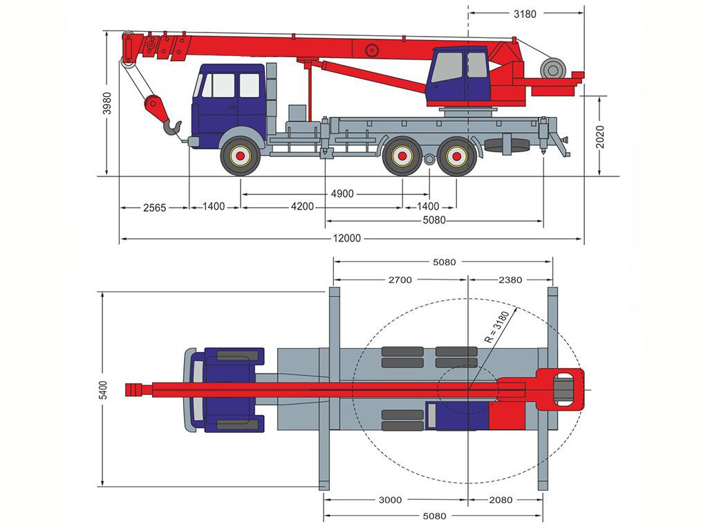 Размеры КС-55727