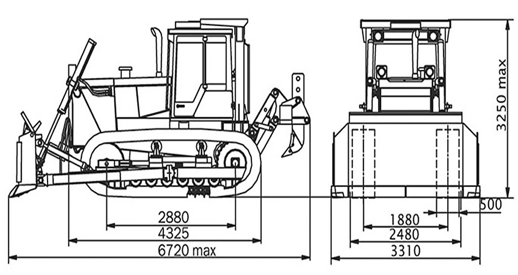 Размеры Т-170
