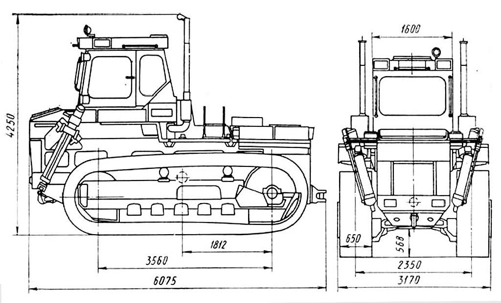Размеры Т-330